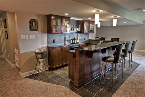 Kitchen Color Ideas With Dark Cabinets tile to carpet transition basement traditional with none