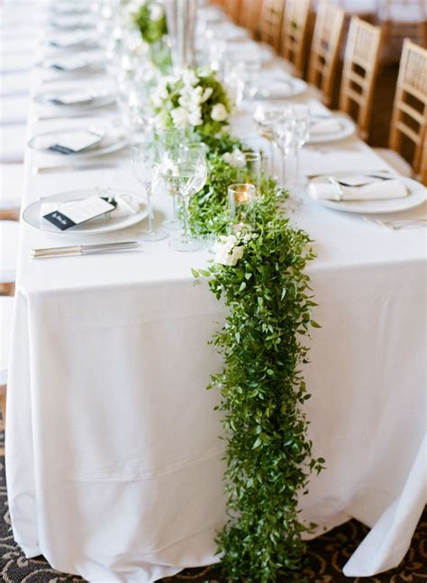 Table Runner Wedding by Picture Of Stunning Greenery Wedding Table Runners 26