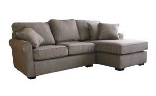Compact Sectional Sofa Contemporary Small Sectional Sofa In Brown Fabric