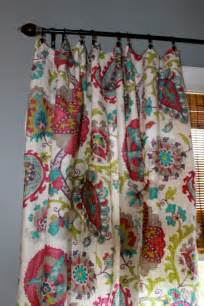 Teal And Grey Curtains Magenta Teal Grey Green And Ivory Floral Curtain By Stitchandbrush