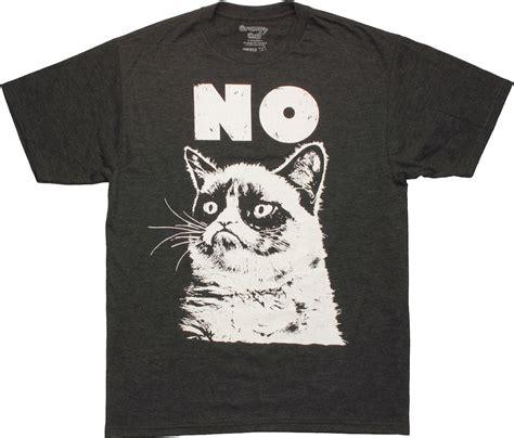 Tshirt Cat 5 grumpy cat no t shirt sheer