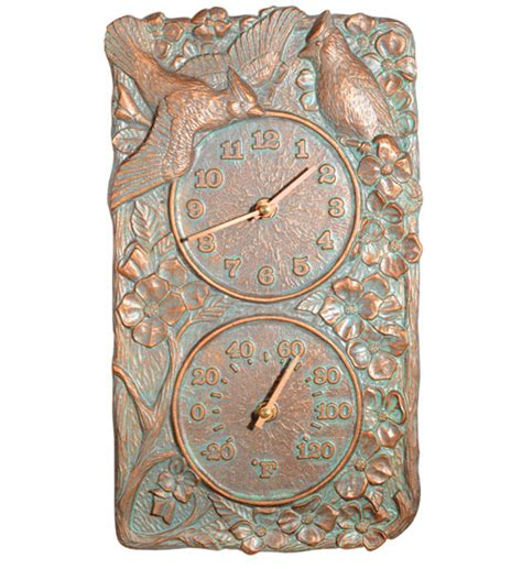 Decorative Outdoor Thermometer by Cardinal Outdoor Thermometer And Clock In Patio Thermometers