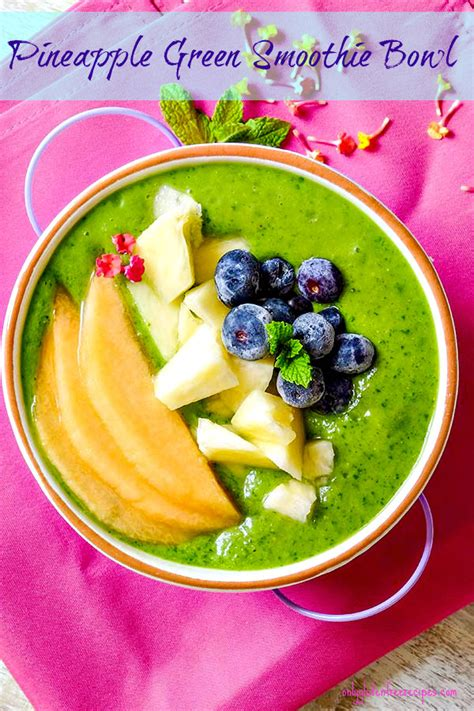 Green Detox Smoothie Bowl by Detox Pineapple Green Smoothie Bowl Only Gluten Free Recipes
