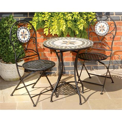 bistro table set mosaic bistro table sets tuscany and metal