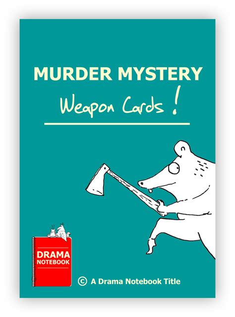 lesson plan for murder a master class mystery master class mysteries books murder mystery weapon cards drama notebook