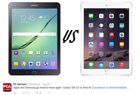 Apple Tab Air galaxy tab s2 vs air 2 the battle of the same screen size tablet