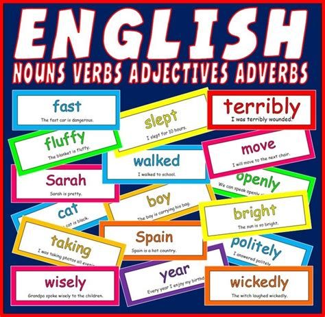 cd 200 verbs nouns adverbs adjectives flash cards