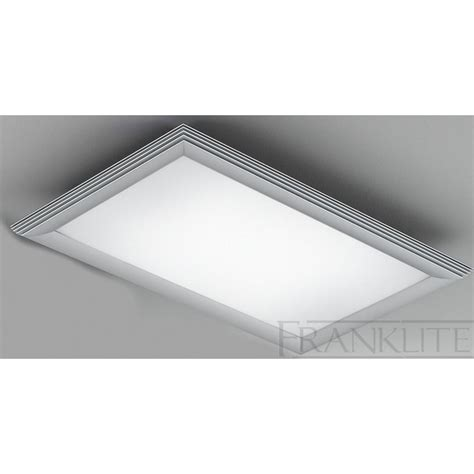 cf5652el rectangular flush 2 ceiling light glass silver