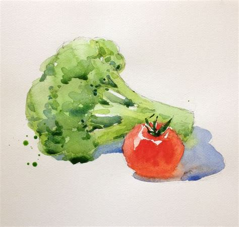 libro watercolour fruit vegetable learn how to paint fruits and vegetables watercolor and learning