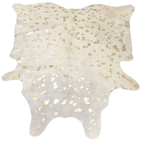 Saddlemans Cowhide Rugs Devore Metallic Leopard Spot Cowhide Rug By Saddlemans At