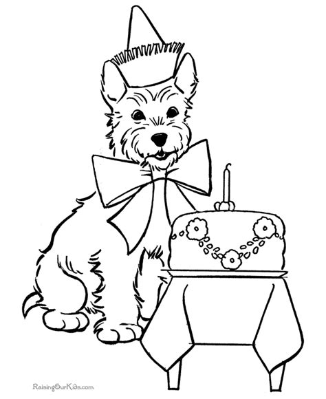 puppy birthday coloring page free coloring pages of cute puppy