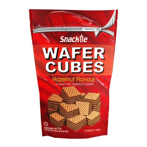Snackie Wafer Cubes Hazelnut our products khee san food industries sdn bhd