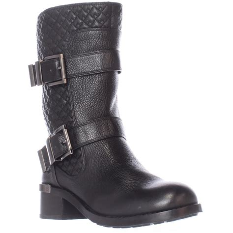 Vince Camuto Quilted Boots by Vince Camuto Welton Quilted Mid Calf Motorcycle Boots In