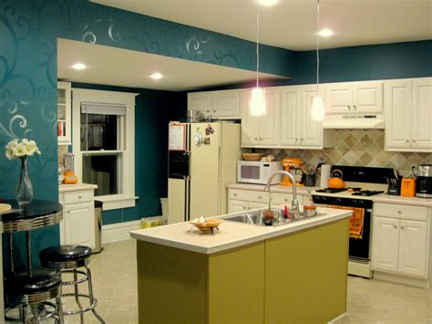 can you paint two accent walls budget kitchen updates accent wall and faux painted