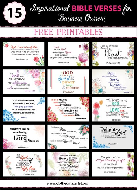 template for scripture cards 15 inspirational bible verses for business owners free