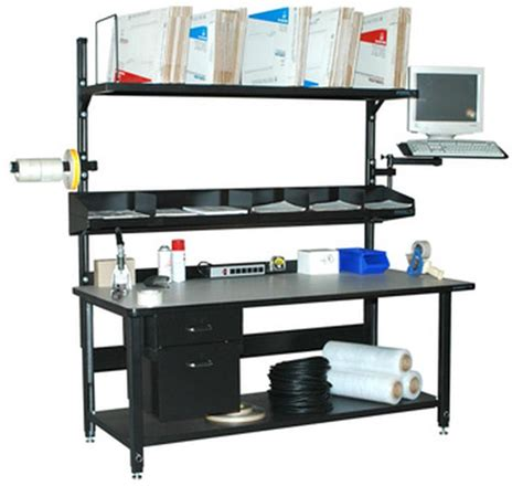 bench outlets stackbin workbenches 6 outlet strip w mount rail