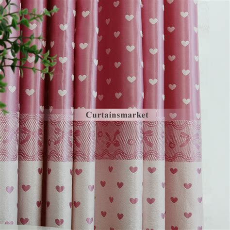 heart pattern curtains pink curtains with heart patterns of polyester fabric
