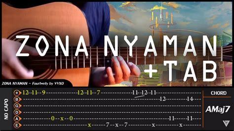 tutorial belajar fingerstyle guitar fourtwnty zona nyaman fingerstyle tab chord tutorial