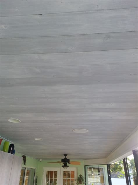 whitewash cedar remodelaholic how to whitewash a plank wall and ceiling
