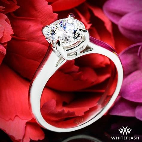 Classic Halo Ring 1197 quot x prong trellis quot solitaire engagement ring 1197