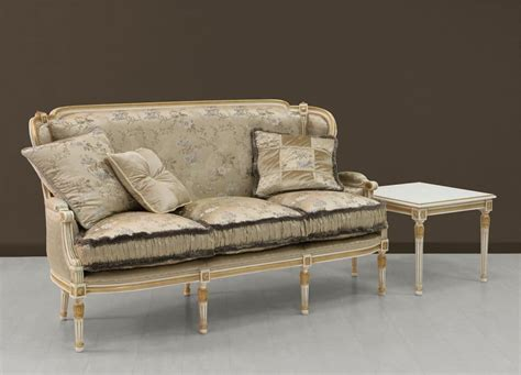 luxury couch luxury sofa white painted with gold ornamentation idfdesign