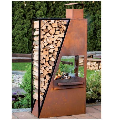 terrassen feuerstelle metall kaminofen barbecuestartroot metallmichl aus edelrost