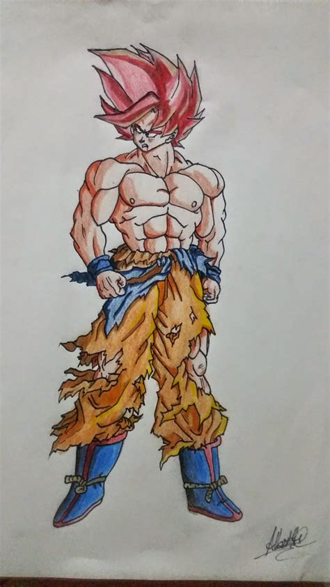 imagenes de goku en fase dios pin dragon vs fire world of fantasy art design hd