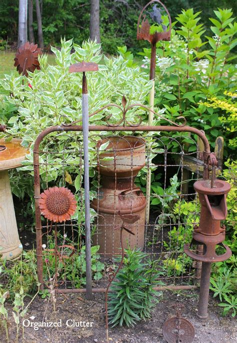 Garden Decorations Ideas S Outdoor Junk Decor Gardens Organized Clutter