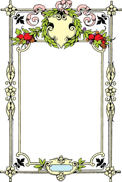 vintage decorative borders clipart