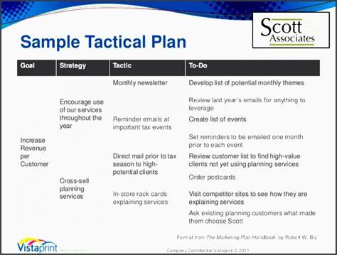 5 Company Tactical Marketing Plan Sletemplatess Sletemplatess Tactical Marketing Plan Template