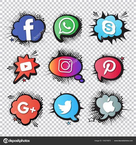imagenes de redes sociales logos colecci 243 n de logos de redes sociales populares archivo