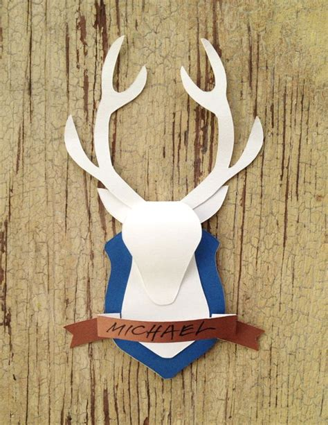 How To Make A Deer Out Of Paper - 17 best images about antlers on reindeer