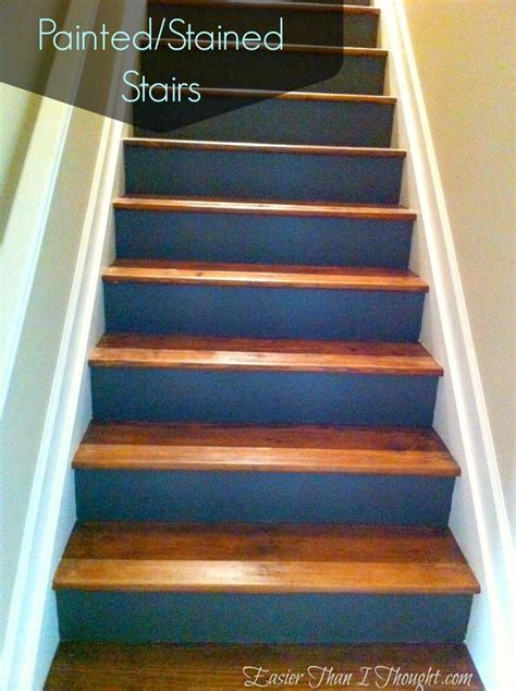 painted stained stairs