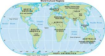 World Region Map by World Cultural Regions Map By Maps Com From Maps Com