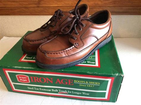 Sepatu Safety Boot Suedeshoes Steel Toe Boot Brown Sepatu Pria iron age steel toe safety shoes brown with box size 7