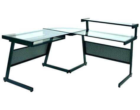z line belaire glass l shaped computer desk z line glass desk z line belaire glass l shaped computer