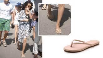 Get Halle Berrys Summery Sandals by Selena Gomez Flip Flops Yosi Samra Roee Flip Flops