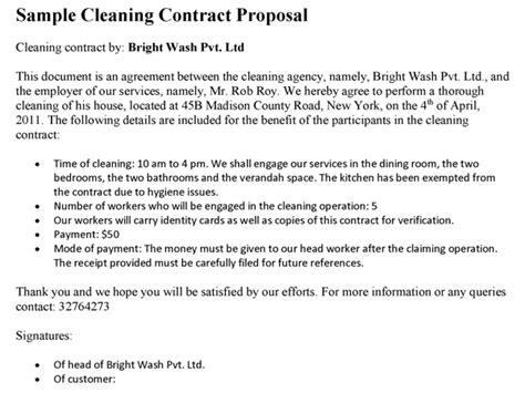 Post Construction Cleaning Proposal Template One Piece Post Construction Cleaning Template