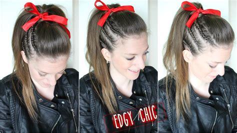 cheer hairstyles cheer hair tutorial braidsandstyles12