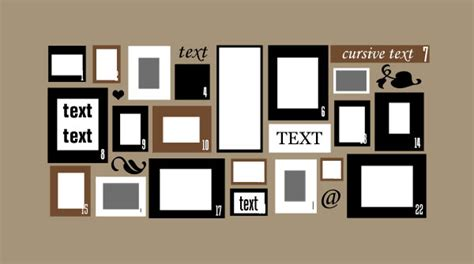 photo frame wall collage template picture frame wall collage layout
