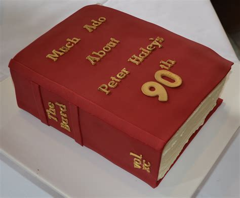 book cake pictures 90th birthday shakespeare book cake