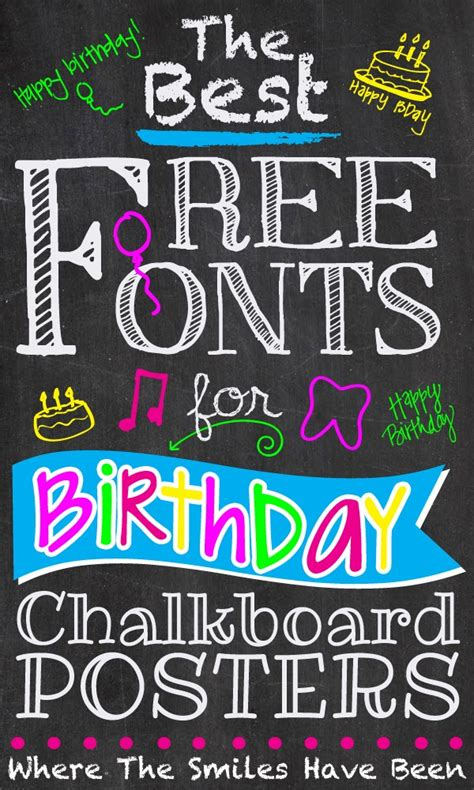 the best free the best free fonts for birthday chalkboard posters