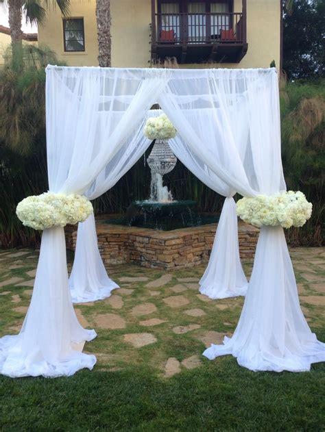 Wedding Arch Cloth by Custom Arch Designed And Built By Flower Box Wedding Arch