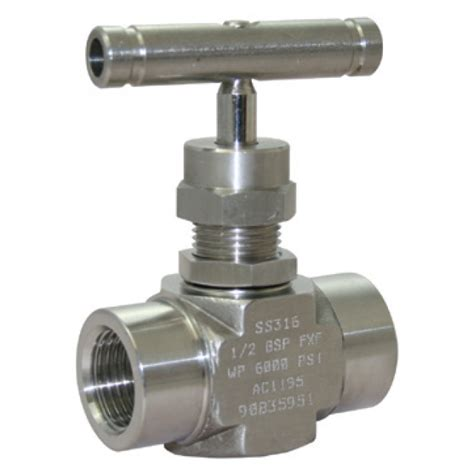 Needle Valve stainless steel needle valve screwed npt 6000psi