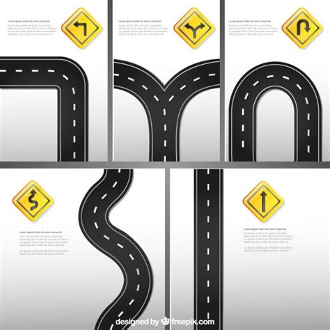 printable road templates road signs template vector free download