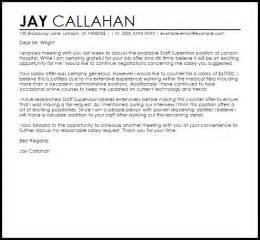 Counter Offer Job Letter Job Letters Livecareer