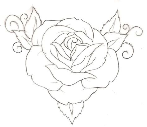 rose tattoo drawing 1 by metacharis on deviantart tattoos and