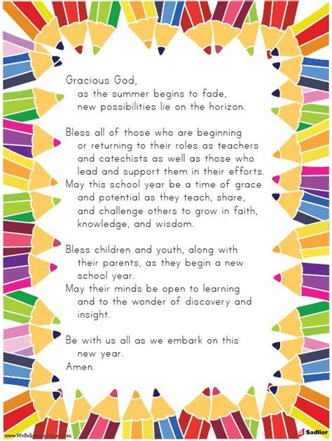 prayer for the new school year back to school prayer let us pray