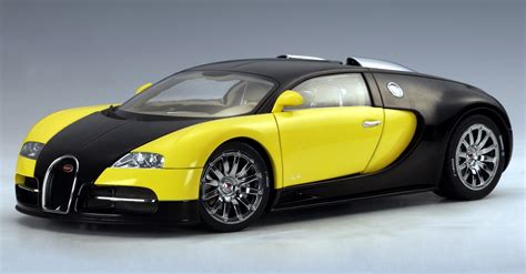 yellow bugatti autoart bugatti eb 16 4 veyron car black yellow