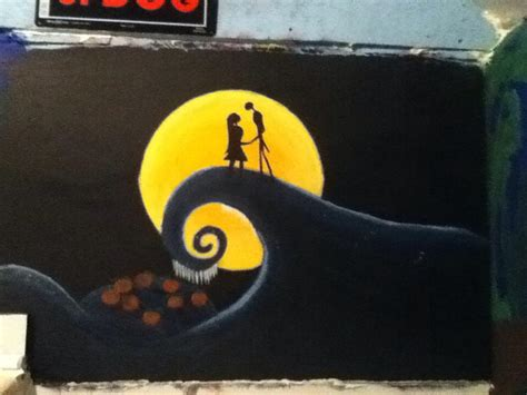nightmare before wall mural nightmare before mural by mollydarkheart on deviantart